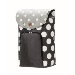 Produktbild från Andersen - Artikelnummer 2-149-80 - Säck Shoppingvagn Dots svart grå