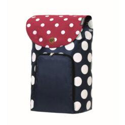 Produktbild från Andersen - Artikelnummer 2-149-90 - Säck Shoppingvagn Dots blå röd