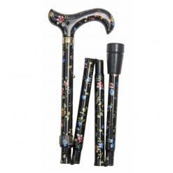 Produktbild 1 från Classic Canes - Artikelnummer 5003F - Käpp Hopfällbar Black Floral